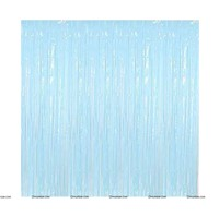 Light Blue Foil Curtains