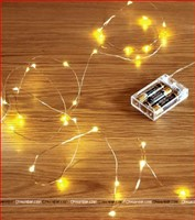 Copper Wire Fairy LED String Lights - 3AA Battery Operated
