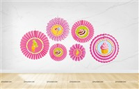 Candyland Theme paper Fan Decoration