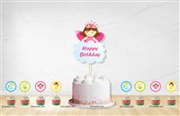 Fairy Princess Cup cake & cake topper set ( Pack of 13)
